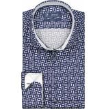 Sleeve7 Overhemd wit print dobby