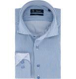Sleeve7 Heren overhemd witte streep twill modern fit