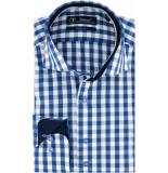 Sleeve7 Overhemd allover ruiten poplin modern fit