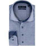 Sleeve7 Heren overhemd met wit herringbone modern fit