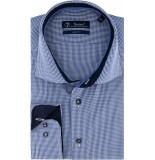 Sleeve7 Heren overhemd donker- en licht wit geruit poplin modern fit