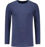 ShirtsofCotton Longsleeve heren t-shirt 2-pack blauw