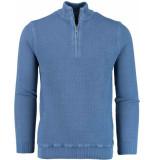 Baileys Shirt style zip 818458/337 blauw