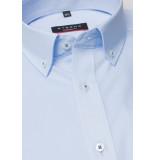 Eterna Heren overhemd licht poplin contrast kent modern fit blauw