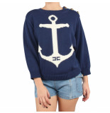 Elisabetta Franchi Moves Knitted sweater blauw