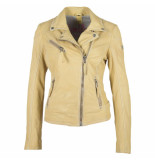Gipsy Gipsy labagv leather jacket pale yellow geel