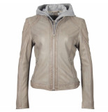 Gipsy Gipsy ggaelly lamas leather jacket lt grey grijs