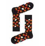 Happy Socks Hamburger ham01/9000 zwart