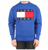 Tommy Hilfiger Tjm tommy flag crew blauw