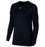 Nike W np top ls all over mesh ao9949-010 zwart