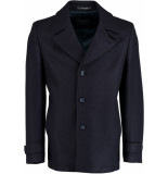 Bos Bright Blue Blue spaarn coat 18301sp10sb/290 navy blauw