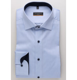Eterna Heren overhemd licht classic kent slim fit stretch
