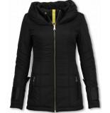 Milan Ferronetti Winterjassen winterjas halflang zwart