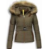 Milan Ferronetti Mooie winterjassen met bontkraag bruin