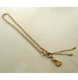 Christian Gouden collier met hangers geel goud