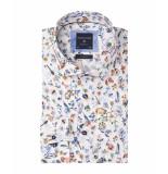 Profuomo Heren overhemd met kleurrijke bloemen print ml7 slim fit
