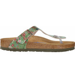 Birkenstock Gizeh sfb meadow flowers khaki regular