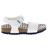 Birkenstock Mila nautical stripes white narrow nautical stripes wit
