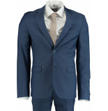 Bos Bright Blue Blue d8 milano slim fit kostuum 191028to23sb/240 blauw