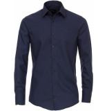 Venti Heren overhemd poplin non iron modern fit blauw