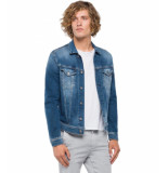 Replay Hyperglex jacket used effect blauw