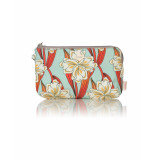 Oilily Clutch mhz ruffles ornament- turquoise