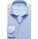 van Laack Rivara heren overhemd twill cutaway easy care slim fit blauw