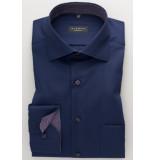 Eterna Heren overhemd blauw poplin widespread comfort fit