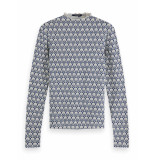 Scotch & Soda 156168 0217 printed long sleeve tee combo a