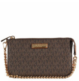 Michael Kors Jet set md in pouchette bruin