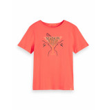 Scotch & Soda 156185 1906 regular fit tee with artwork watermelon rood