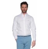 Tommy Hilfiger Casual overhemd met lange mouwen wit