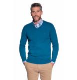 Campbell Trui v-hals blauw