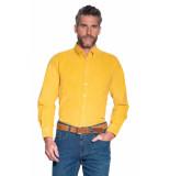 Campbell Casual overhemd met lange mouwen geel