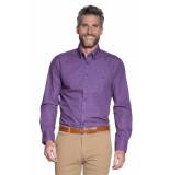 Campbell Casual overhemd met lange mouwen paars