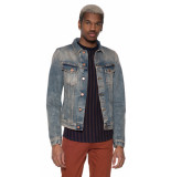 Nudie Jeans Billy shimmering spijkerjas blauw