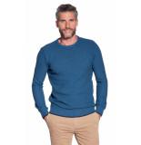 Campbell Trui o-hals blauw