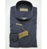 John Miller Overhemd poplin print cutaway tailored fit