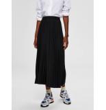 Selected Femme 16073773 slfalexis mw midi skirt noos zwart