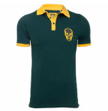 Pascucci Heren polo skull slim fit stretch groen