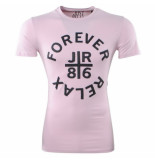 Just Relax Heren tshirt ronde hals forever slim fit roze