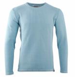 Indicode Heren trui fijn gebreid ronde hals clere alaska blue blauw