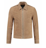 Goosecraft Jack leer gc manhattan jacket beige