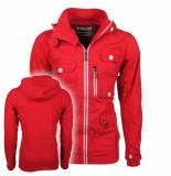 Soulstar Heren zomerjas fleece voering capuchon mountaineer rood