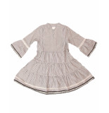 AI&KO Aaiko jurk kampur lurex ecru