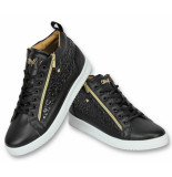 Cash Money Schoenen sneaker croc black gold