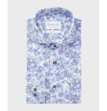 Michaelis Wit bloemen shirt van (extra lange mouwen)