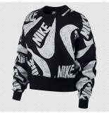 Nike Sportswear womens fleece crew cj2052-010 zwart