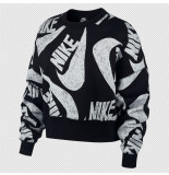 Nike Sportswear womens fleece crew cj2052-010 zwart