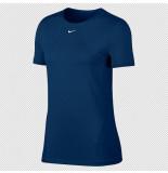 Nike Pro womens short-sleeve mesh ao9951-432 blauw